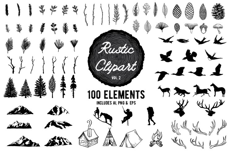 Rustic Clipart Designs Vol 2 example image 1