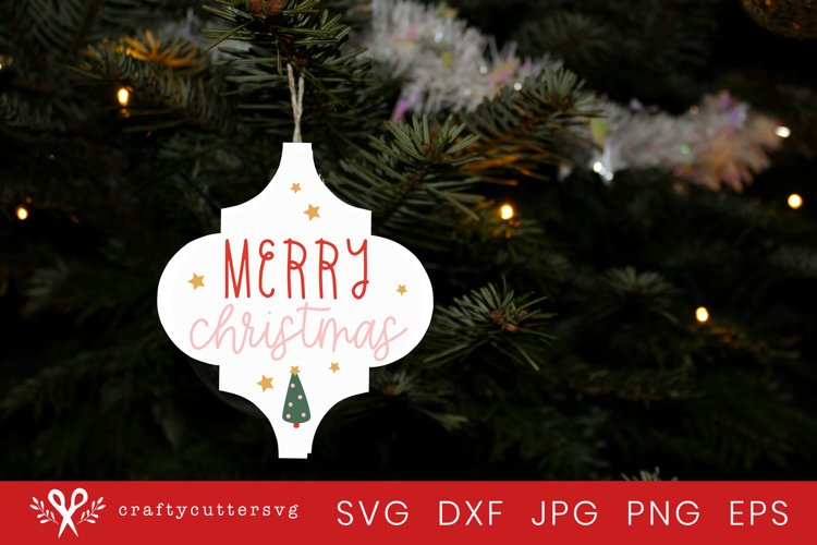 Christmas Ornament Arabesque Tile Svg | Merry Christmas svg example image 1