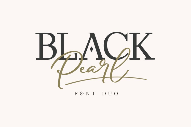 Black Pearl Font Duo example image 1