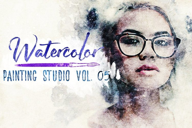 Watercolor Painting Studio Vol. 05 example image 1