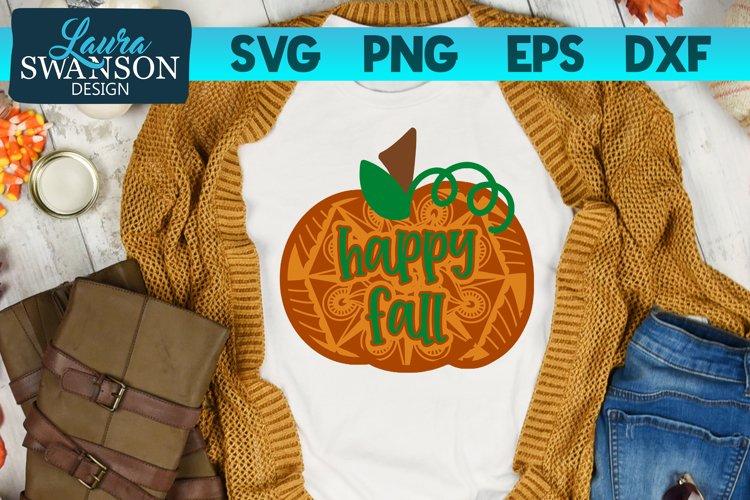 Happy Fall Pumpkin Mandala SVG, PNG, EPS, DXF