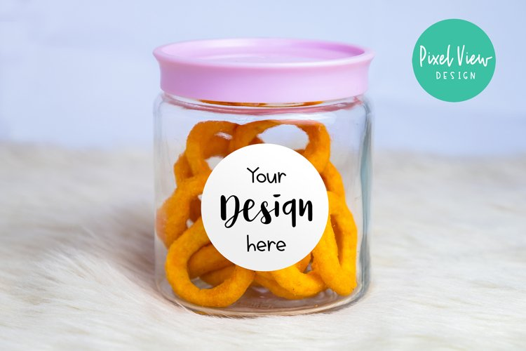 Jar with Snacks Mockup