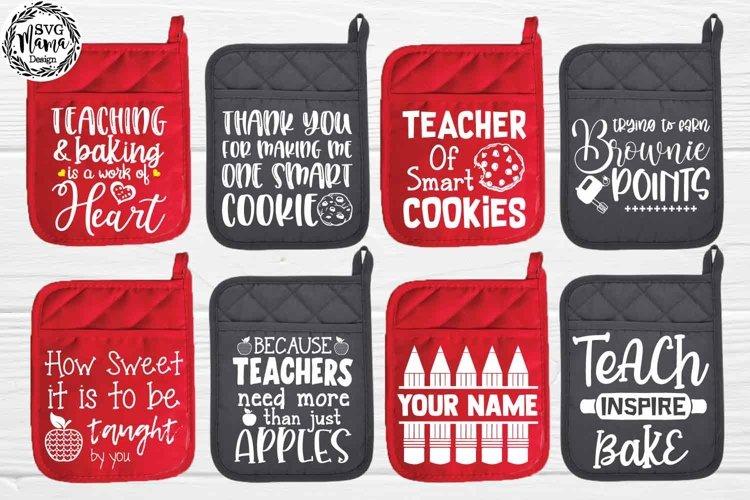Teacher Pot Holder Svg Bundle example image 1