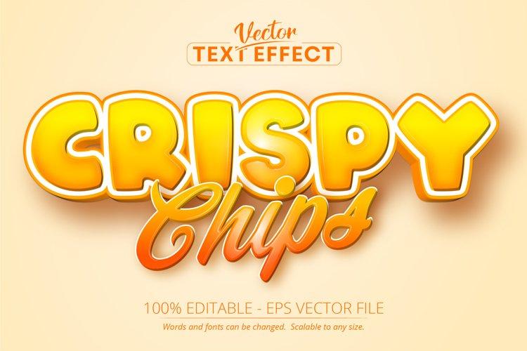 Crispy Chips text, cartoon style editable text effect