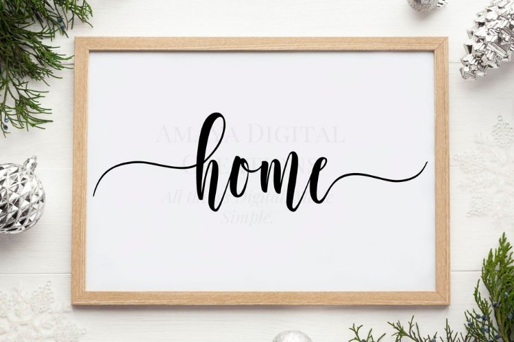 Love SVG,Home Sign SVG,Rustic Home Sign example image 1