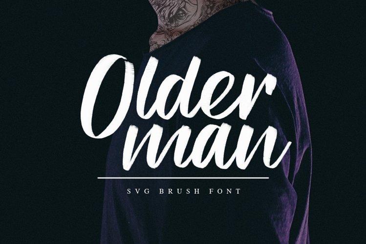 Olderman SVG Brush Font example image 1