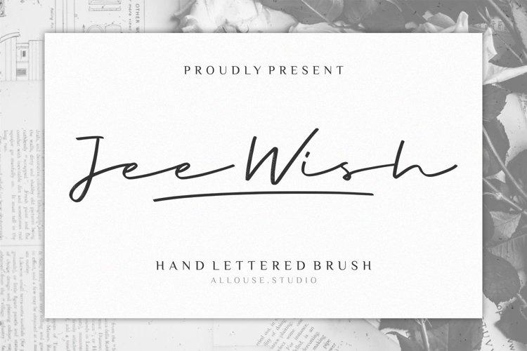 Jee Wish - Handlettered Brush Font example image 1