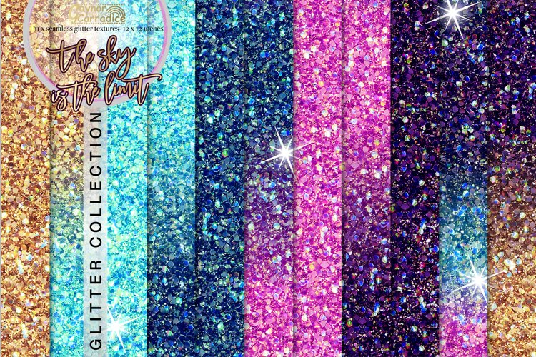 Outer Space seamless Glitter backgrounds