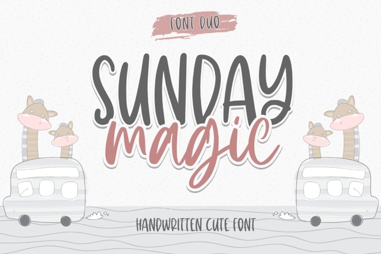 Sunday Magic - Font Duo example image 1