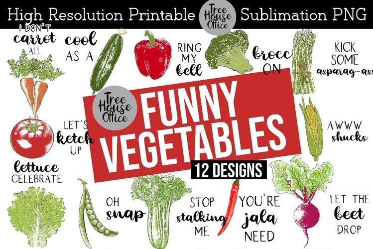 Funny Kitchen Vegetables, Vegetable Puns, Sublimation PNG