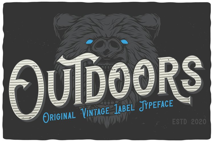 Outdoors Layered Font example image 1