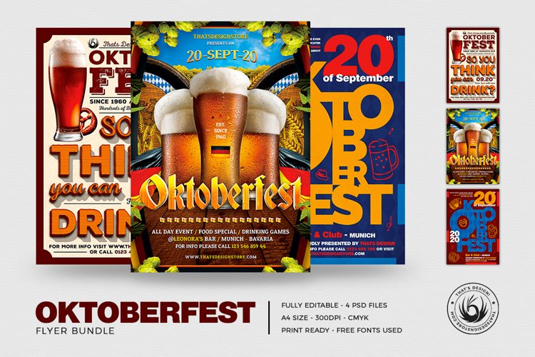 Oktoberfest Flyer Bundle V3 example image 1