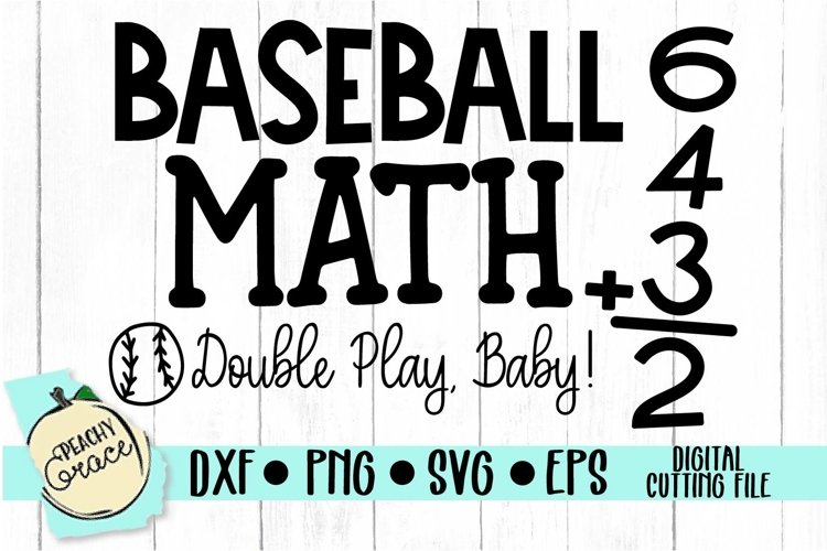 Baseball Math SVG example image 1