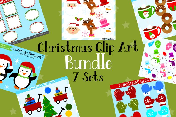 Christmas Clipart Graphics Bundle, Illustrations, Clipart example image 1