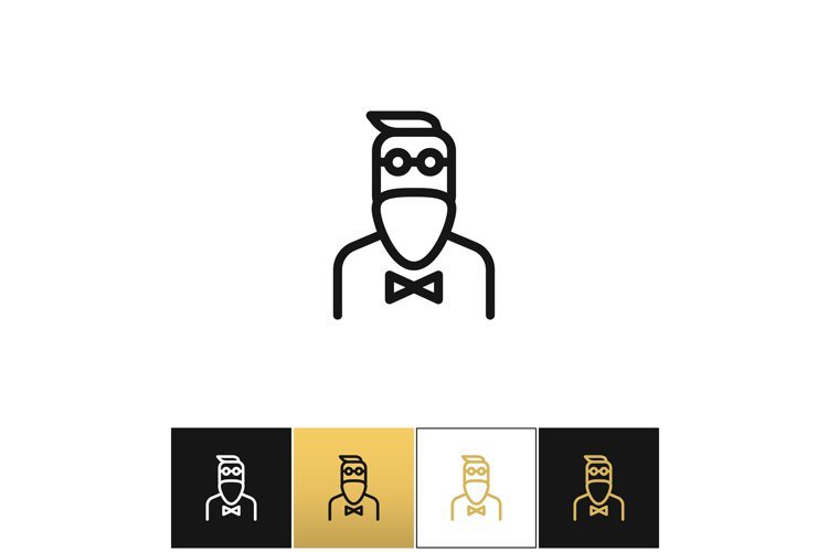 Hipster man fashion vector icon example image 1