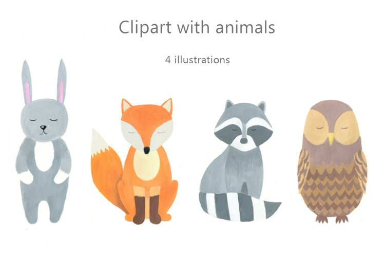 Clipart with animals.