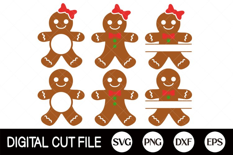 Monogram Gingerbread Cookies SVG Bundle, Christmas Monogram example image 1