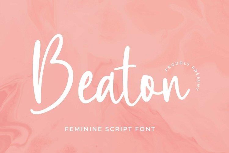 Web Font Beaton Font example image 1