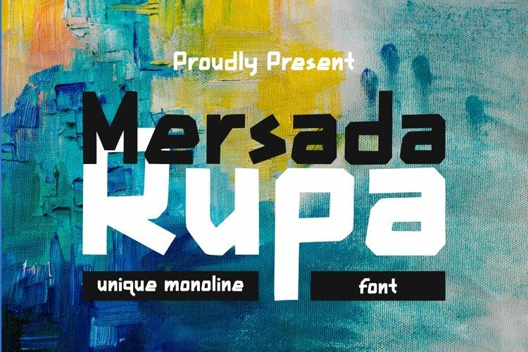 Web Font Mersada Rupa Font example image 1