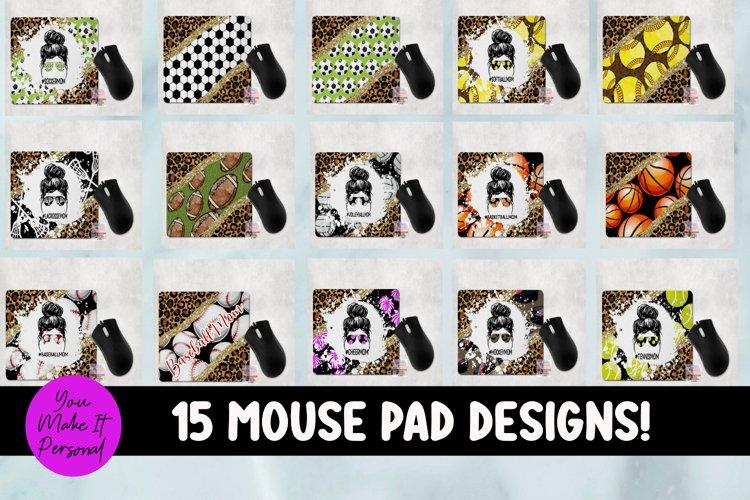 Sports Themed Mouse Pad Bundle - Fun, Leopard Designs!
