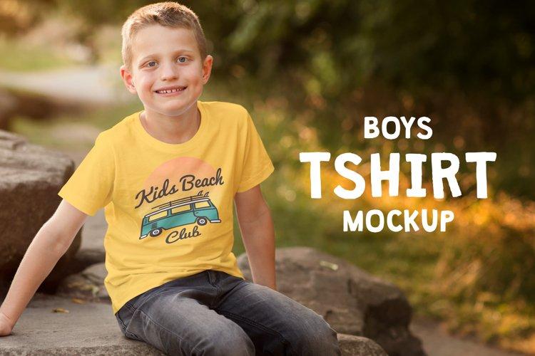 Boys T-shirt Mock-up example image 1