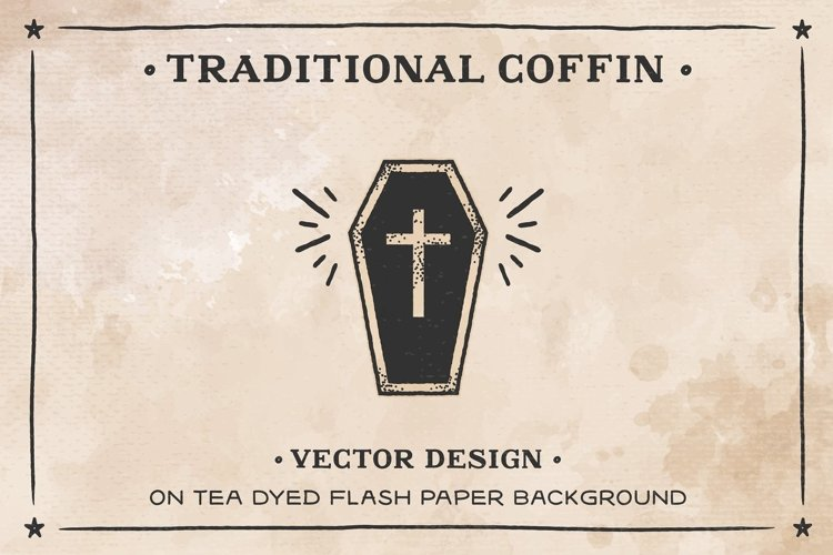Coffin on Tea dyed Flash Paper AI example image 1