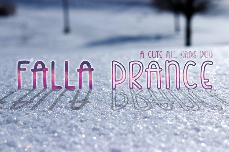 Falla Prance | A cute all caps duo font| Monoline Font