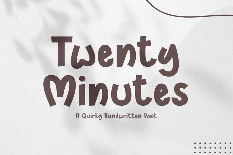 Twenty Minutes - A Handwritten Font example image 1