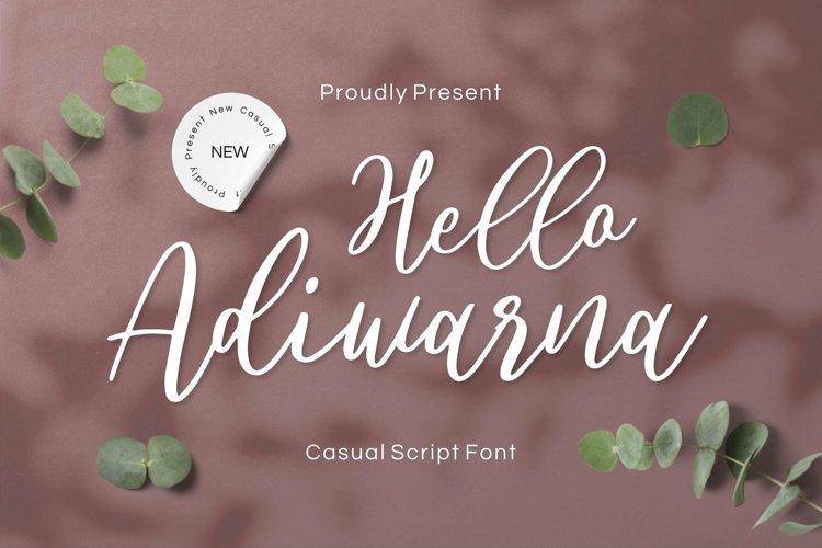 Web Font Adiwarna example image 1
