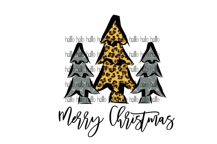 Cute Christmas Trees, Merry Christmas design, Sublimation example image 1