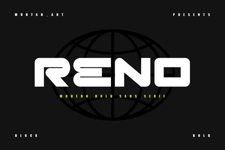 Reno | Bold Sans