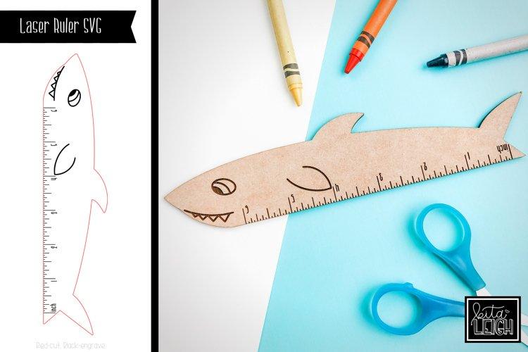 Laser Shark Ruler SVG example image 1