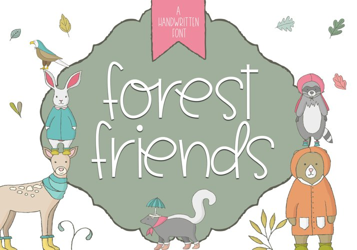 Forest Friends - A Handwritten Font example image 1