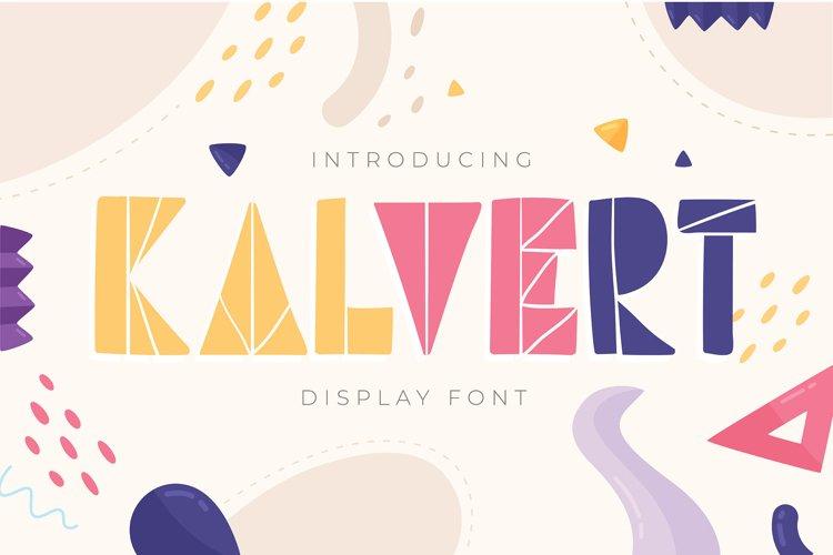 Kalvert   Display Font example image 1