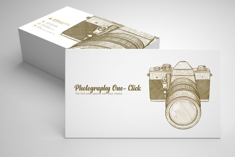 Vintage Retro Photography Business Cards example image 1