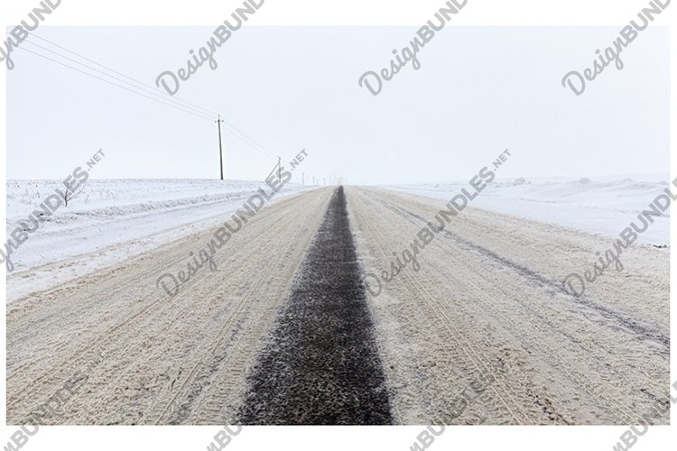 winter paved road example image 1