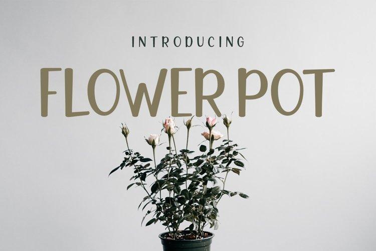 Web Font Flower Pot example image 1