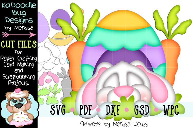 Sleeping Bunny Egg House Cut File - SVG PDF DXF GSD WPC