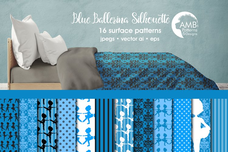 Blue Ballerina Patterns, Blue Ballerina Papers, AMB-1950 example image 1