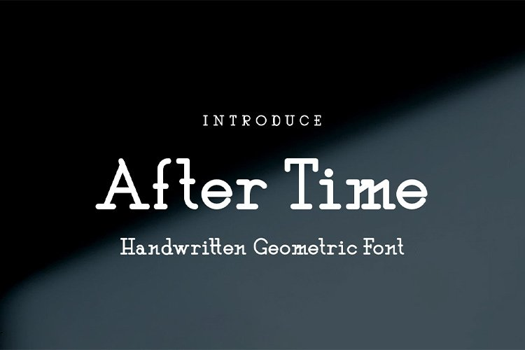 After Time || handwritten font example image 1