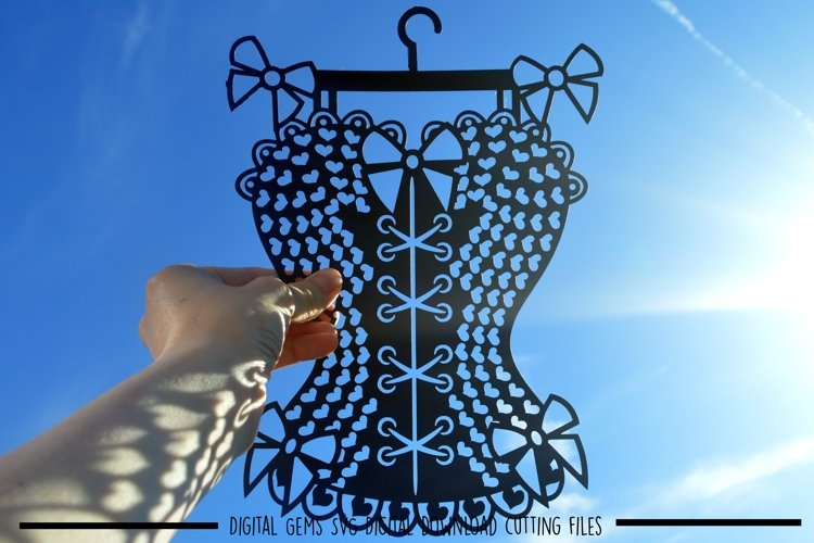 Corset paper cut SVG / DXF / EPS files example image 1