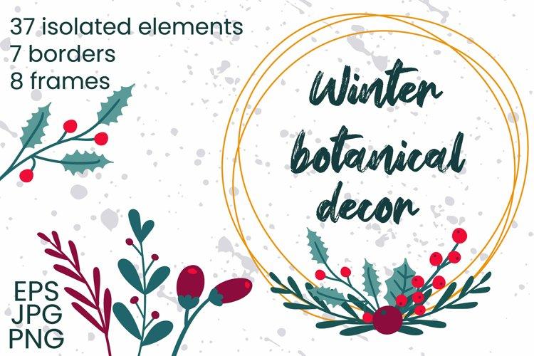 Winter botanical decor example image 1