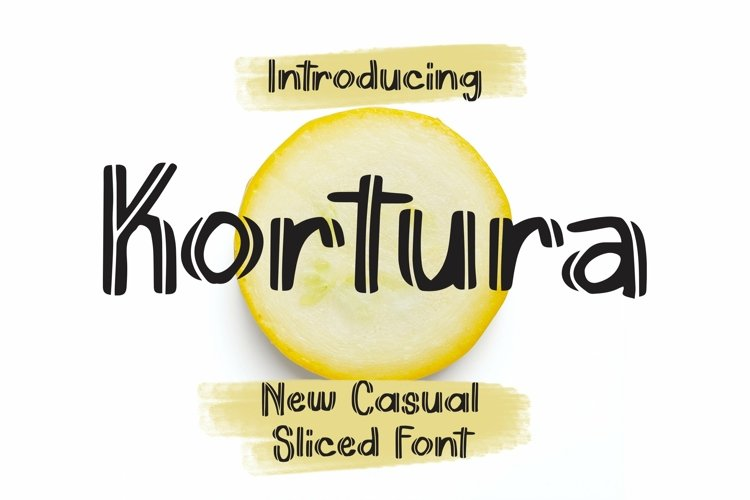 Web Font Kortura - Casual Sliced Font example image 1
