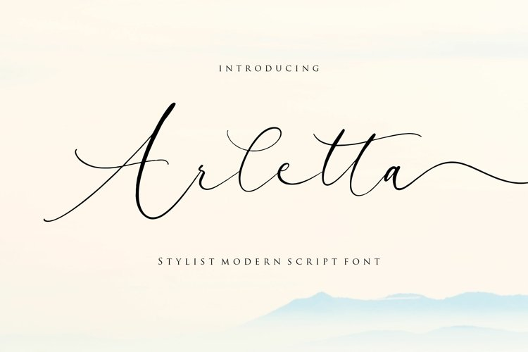 Arletta Stylist Modern Script Font example image 1