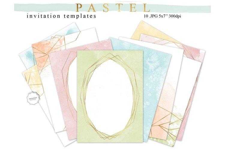 Pastel Watercolor Invitation Templates example image 1