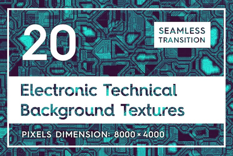 20 Electronic Technical Backgrounds example image 1