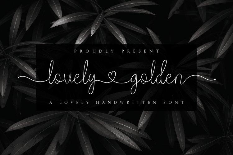 lovely golden - Lovely Handwritten Font With Heart example image 1