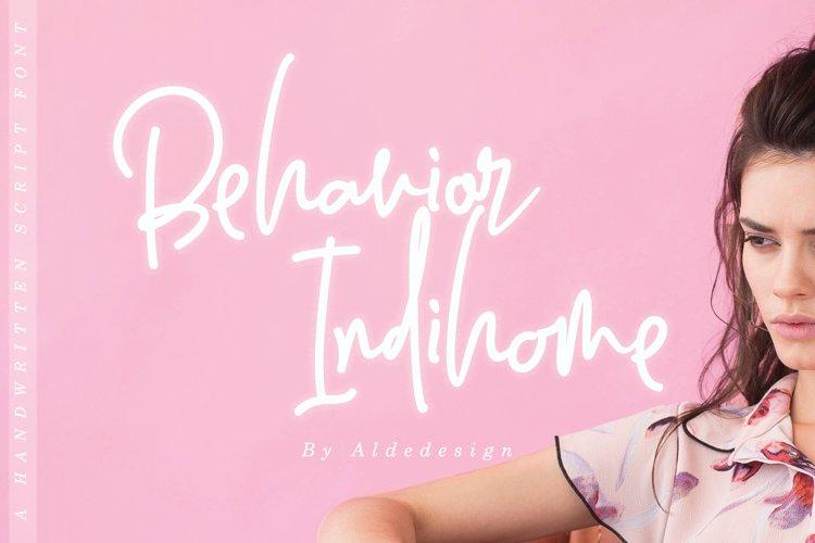 Behavior Indihome | Signature Font example image 1