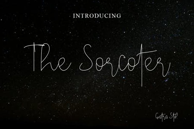 The Sorcoter Signature Font example image 1