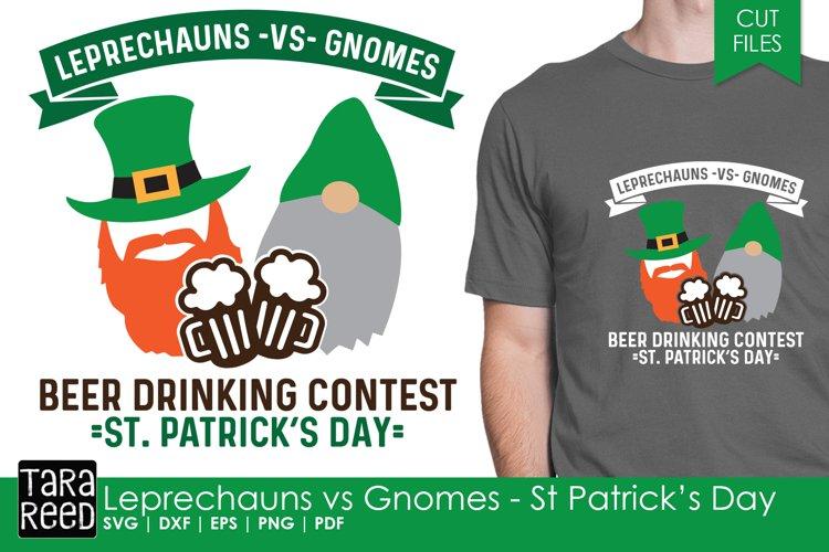 Leprechauns vs Gnomes - Saint Patricks Day SVG & Cut Files